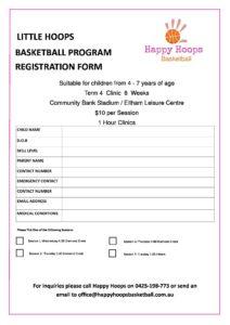 Little Hoops Basketball clinic Diamond Creek